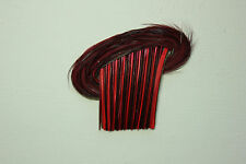 Vintage Antique Feather Millinery quill fancy trims made in France 3172 RED hat