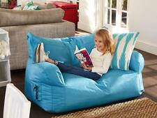 Hip Kids Brady Bean Bag Canvas Couch Sofa 2 Seater Chair Outdoor Indoor