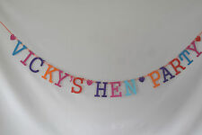 personalised hen party banner any name hen night bunting