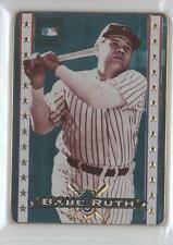 1996 Metallic Impressions Cooperstown Collection #5 Babe Ruth Baseball Card 0d8