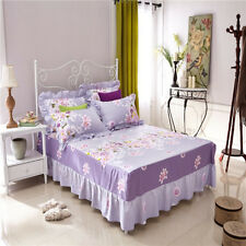 Lily Home 1 Bed Fitted Sheet/Valance+2 Pillowcases All Size Cotton Blend  L