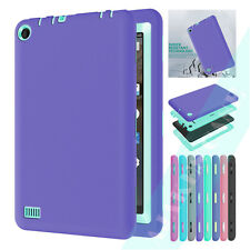 Shockproof Silicone PC Tablet Duty Cover Case For Amazon Kindle Fire 7 5th 2015