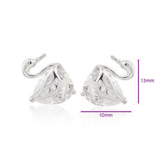 Lovely 18K White Gold Filled crystal Crystal Womens Swan Stud earing