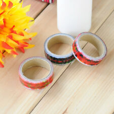 2 Roll DIY Floral Sticker Decor Roll Cartoon Paper Masking Adhesive Tape Crafts