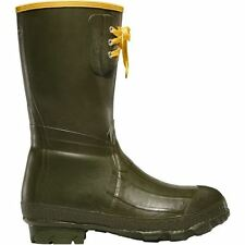 """LaCrosse Pac 260040 Mens 12"""" OD Green Insulated Waterproof Rubber Utility Boots"""