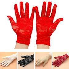 New Women Lady Summer Lace Driving Gloves Sun Protection Gloves Party 7Colors