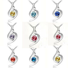 New Fashion Women Pendant Chain Crystal Jewelry Choker Statement Bib Necklace
