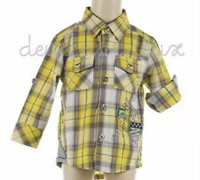 NWT Deux par Deux Taxi Plaid Shirt top boy 24m, 2, 3, 4, 5y Style T10