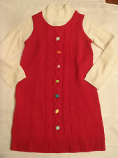 GYMBOREE Girls Size 3 4 Choice Cozy Cutie Red Everyday Winter Sweater Dress NWT