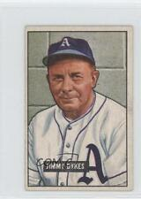 1951 Bowman #226 Jimmy Dykes Philadelphia Athletics RC Rookie Baseball Card b5h