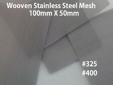 3pcs WOVEN WIRE FILTRATION MESH STAINLESS STEEL #400 #325 100mm X 50mm