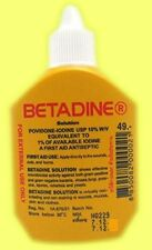 Betadine Povidone Iodine First Aid Solution Antiseptic Disinfecting Prep 30ml