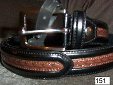 "New Western ""Tooled"" Belt MSRP $74 Black & Tan  Available in 4 Sizes, M L XL"