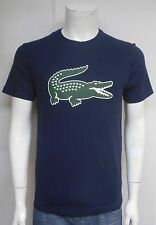 LACOSTE MENS CROC T-SHIRT NAVY TH655551-525 SELECT SIZE
