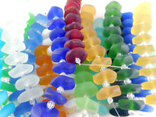 2 Strand Sea Glass (20 beads) Ruffled Disc Beads You Pick Color