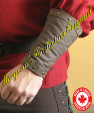 Medieval Armor Celtic Viking Men at Arms Padded Bracers with Leather Rims