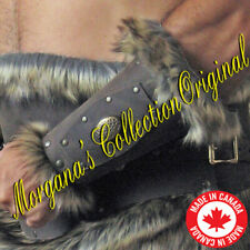 "Medieval Armor Viking Barbarian 6"" Bracers with Fur"