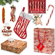 Bacon Christmas Products You Choose Ornament Stocking Gift Wrap Bag Candy Canes