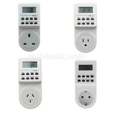 Digital Electronic LCD Programmable Plug-in Timer 12/24 Hour Switch Socket Plug