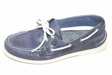 New Sperry Mens STS12621 Blue Leather Casual Boat Shoes Sz 8.5M NWOB