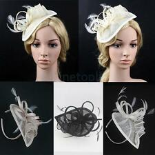 Feather Fascinator Cap Headband Fancy Dress Party Wedding Bridal Hair Ornament