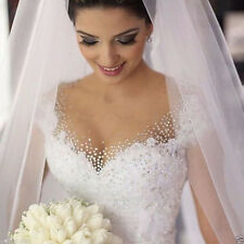 New White/ivory tulle crystal Wedding dress Bridal Gown custom size 6-8-10-12+