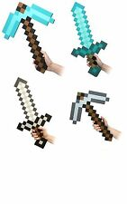 Minecraft Large Blue/Grey Stone Diamond Sword Pickaxe axe EVA Weapons Plush Doll