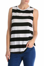 NEW Miss Shop Essentials Muscle Tank Blk/White