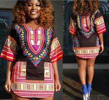 Dashiki Dress Plus Size Traditional Priant Dresses African Clothing For Women