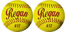 50 Team Softball Decals Bumper Stickers Personalize Text Many Colors Discounted