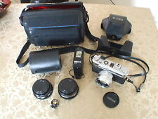 Yashica Electro 35 GSN 35mm Camera with Flash Unit, Lenses & Case