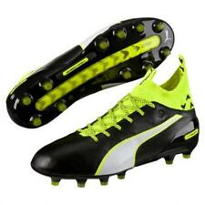Puma JR evoTouch 1 FG Youth Soccer Cleats Football Shoes Black/Yellow/White 1607