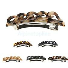 Fashion Acrylic Leopard Spring Hairpin Barrette Clip Lady Hairwear Jewelry