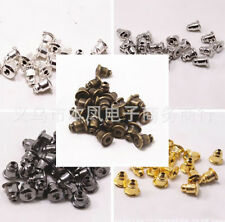 100Pcs Finding Bronze Silver Ear Caps Jewelry Accessories Metal Bullet Gold