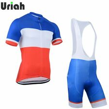 French Team Cycling Clothing Kit Mens Cycling Jersey and (Bib) Shorts Suit S-5XL