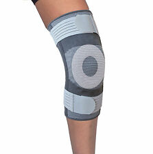 Elastic Knee Brace with Gel Insert, Straps and Side Metal Stabilisers (P515)