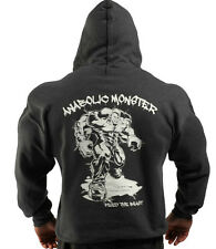 CHARCOAL ANABOLIC MONSTER BODYBUILDING CLOTHING HOODIE, WORKOUT TOP G-58