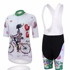 Womens Cycling (Bibs) Shorts Kit Road Bike Bicycle Jerseys & Short Pant Gel Pad
