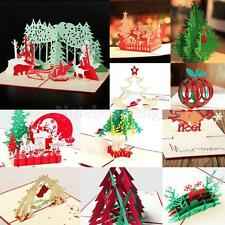 CHRISTMAS Greeting Card 3D Pop Up for Wedding Anniversary Invitation 11 Types