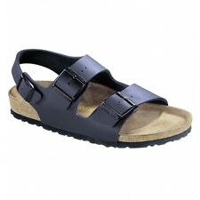 Birkenstock MILANO Mens Triple Buckle Comfort EVA Slingback Summer Sandals Blue