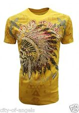 Konflic NWT Men's Crew Neck Native American Indian Graphic Designer MMA T Shirt