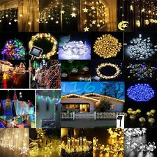 HOT Luxury Curtain&Solar Power String Fairy Light  Wedding Xmas Home Party Decor