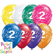 2nd Birthday Star 1x 28cm Balloon Party Supplies Decorations Red Blue Purple