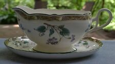Noritake Le Parc Violets Gravy Boat with Underplate