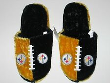 Pittsburgh Steelers Adult Size Fuzzy Non-Skid Himo Style Plush Slippers