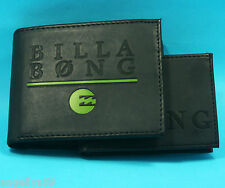 BILLABONG MENS Boys 2 in 1 WALLET Black or Dark Brown PU Synthetic Leather NEW