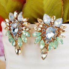 Lady Ear Stud Crystal Rhinestone Earrings Jewelry Elegant  Fashion Women Girls