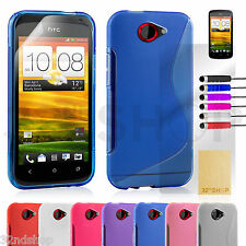 S-Line gel wave design case cover for HTC ONE M8 / S / X + FREE Screen Protector