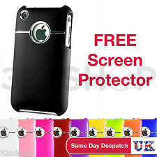 STYLISH CHROME SERIES HARD CASE COVER FITS APPLE IPHONE 3 3GS FREE SCREEN GUARD