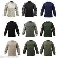 Military Combat Shirt Army Tactical Lightweight Shirt Long Sleeve Durable